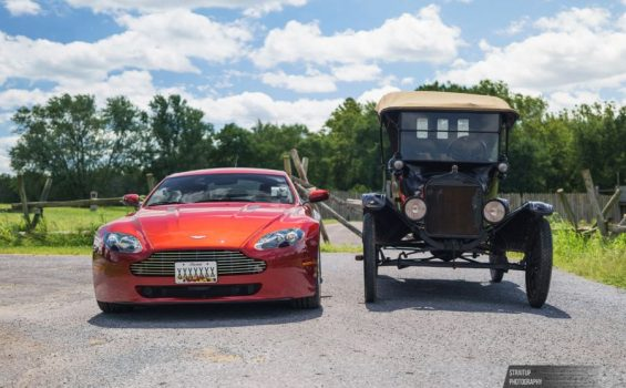 Aston Martin vs. Ford Model T on the Lincoln Highway